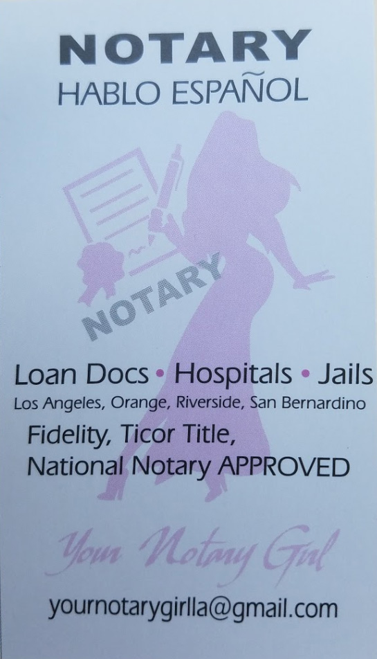 Contact Your Notary Girl, Spanish